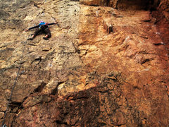Rock Climbing Photo: Dana Walenta gunning the rope.
