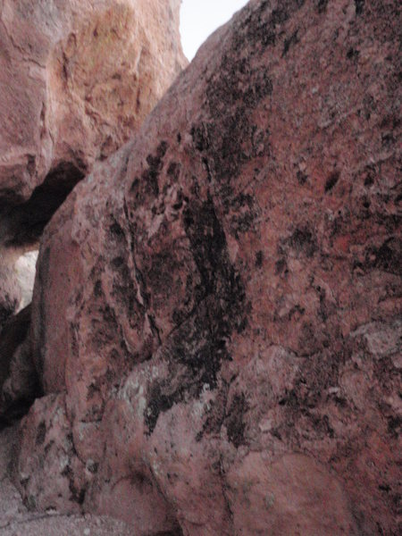 One of the faces of the Calendar boulders
