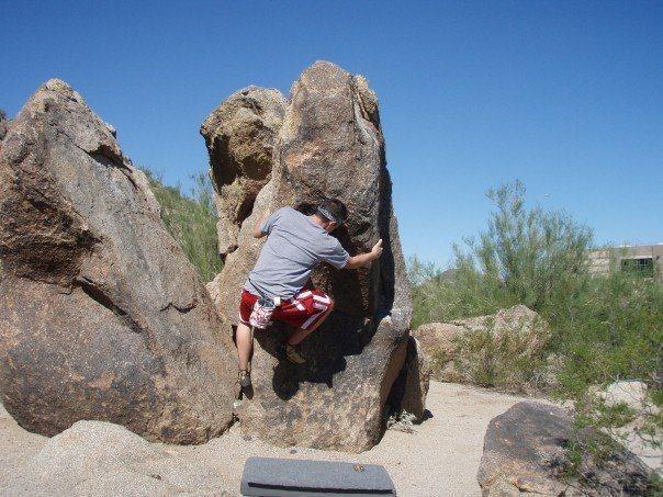 Beardsley bouldering