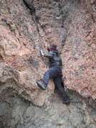 Rock Climbing Photo: This is the 5th class section. Climbed Nov. 9, 201...