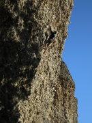 Rock Climbing Photo: Nearing the steeper top bit of Popcorn, photo by M...