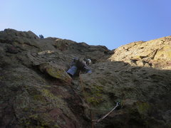 Rock Climbing Photo: Looking up the 5.5 finish...  could easily link P4...