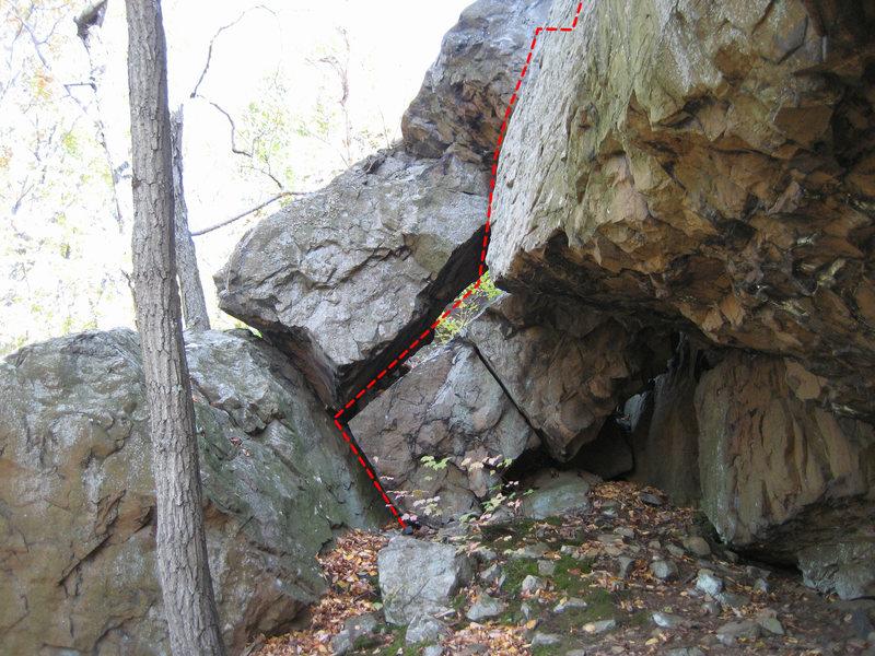 Rock Climbing Photo: Start of Air-to-Ground