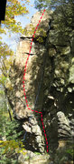 Rock Climbing Photo: First Strike (The panorama exaggerates the curve).