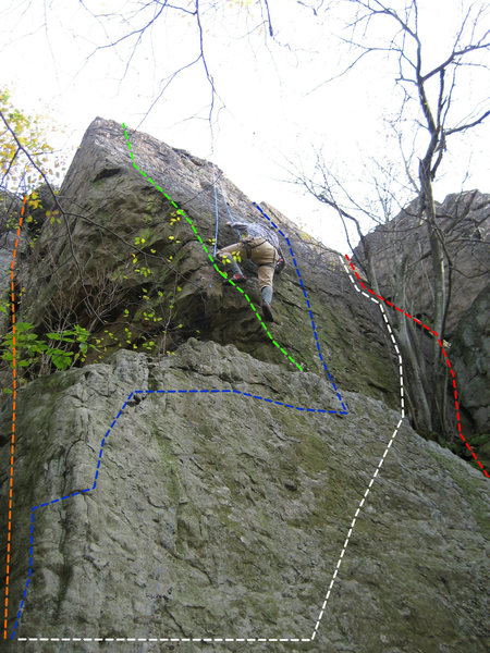 Rock Climbing Photo: Top of Special Forces (blue).  Green Beret Variati...