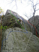 Rock Climbing Photo: Top of Air-to-Ground (white).