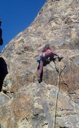 Rock Climbing Photo: Jackie Trejo getting some ungodly high feet on sof...