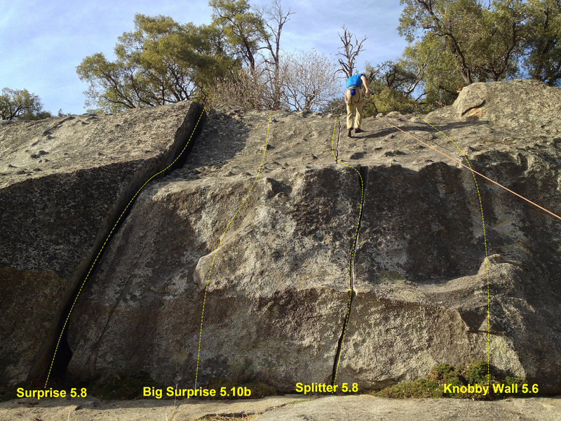 Rock Climbing Photo: Struggler Cliff overview