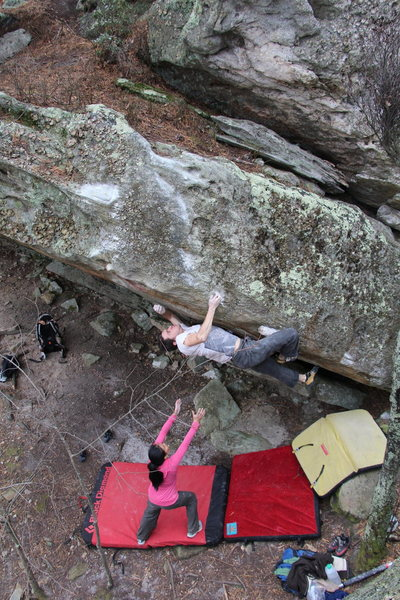 Nick Brehm working 6-4 Arete