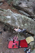 Rock Climbing Photo: Nick Brehm working 6-4 Arete