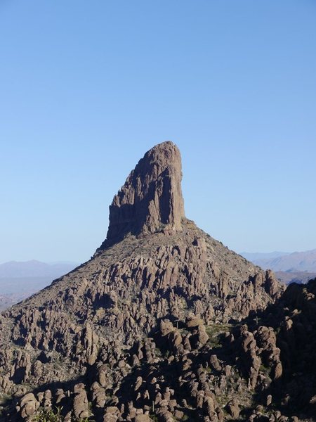 Weavers Needle from the saddle looking North.