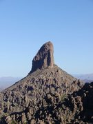Rock Climbing Photo: Weavers Needle from the saddle looking North.