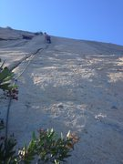Rock Climbing Photo: Kelly Kropko on the FA of Dirty Bush.  Ground up, ...