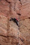 Rock Climbing Photo: Dana Walenta leading LaCholla Jackson.