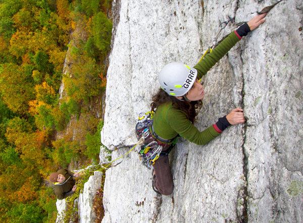Rock Climbing Photo: Leading Westward Ha!