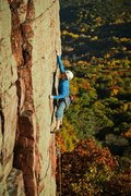 Rock Climbing Photo: In the crux.  Fantastic route.  October '12, photo...