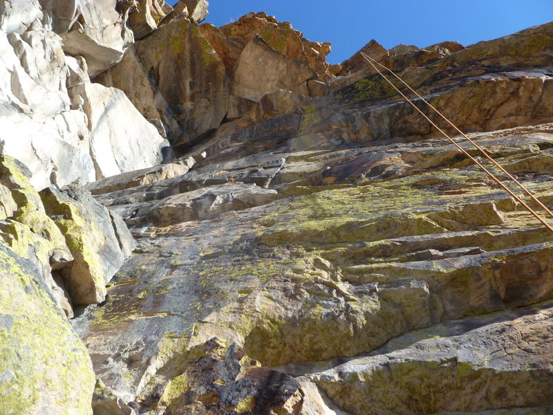 Rock Climbing Photo: The rope is hanging over the route.