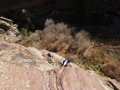 Rock Climbing Photo: A bit of exposed traversing on one of the approach...