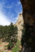 Rock Climbing Photo: Unknown climber from Park City UT at the P1 roof (...
