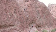 Rock Climbing Photo: Not sure the name of this climb. The beginning is ...