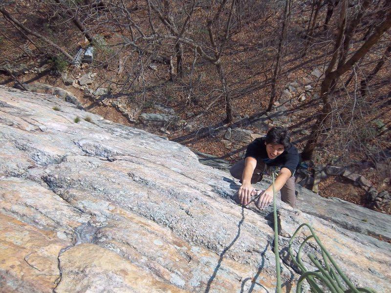 Adam above the pitch 1 crux of MF (5.9)