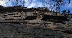Rock Climbing Photo: John linking MF