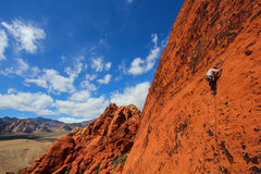 Rock Climbing Photo: My buddy Max on the 1st pitch of this really fun r...
