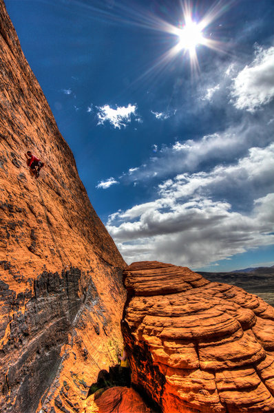Rock Climbing Photo: My buddy Johnny climbing this really fun, out of t...