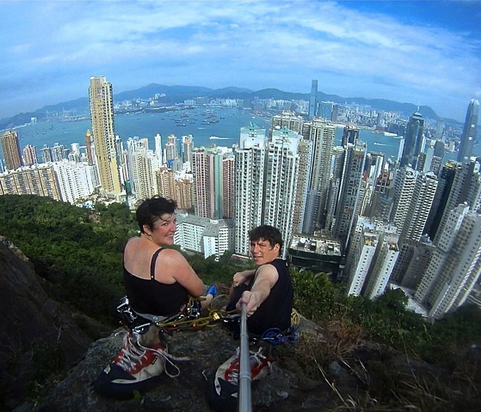 Top out at Victoria Peak, Hong Kong