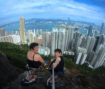 Rock Climbing Photo: Top out at Victoria Peak, Hong Kong