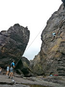 Rock Climbing Photo: Top-roping