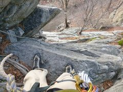 Rock Climbing Photo: Looking down from the top of Bunny