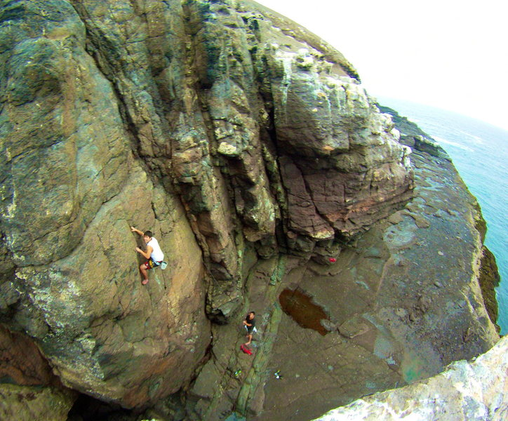 Rock Climbing Photo: Burd's Eye View (5.9).