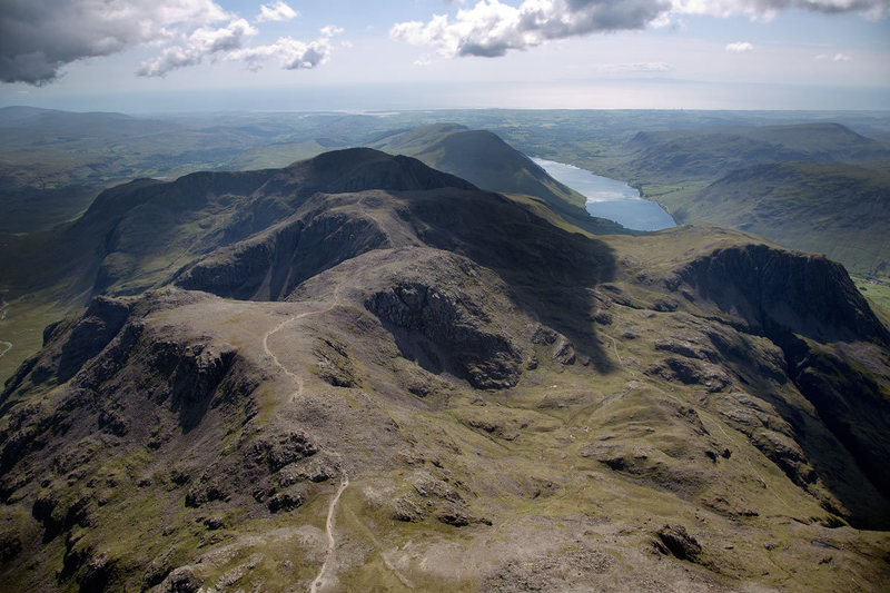 The Scawfells and Wasdale Lake from a Para glide.. Photo Stuart Holmes