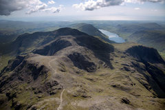 Rock Climbing Photo: The Scawfells and Wasdale Lake from a Para glide.....