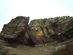 Rock Climbing Photo: Burd's Eye View, Pucusana.