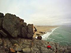 Rock Climbing Photo: On the FA of ¿Dónde está Sheyla? (V1)