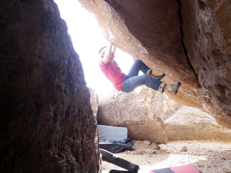 Rock Climbing Photo: After the pain of the mono/2 finger is over.