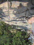 Rock Climbing Photo: Paul Deagle - Madam G's 5.6 view from hanging bela...