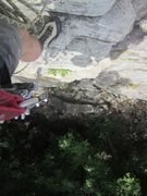 Rock Climbing Photo: Paul Deagle - Sixish looking down from first belay