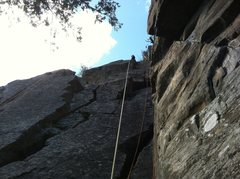 Rock Climbing Photo: Deadwater cliff looking at geronimo and space cowb...
