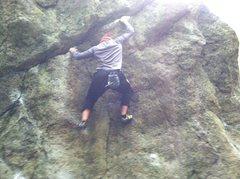 Rock Climbing Photo: Brandon Morey on Hooker at Mckenzie Pond Boulders