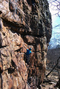 Rock Climbing Photo: Phil Watts - Green Goblin 5.8 HCR