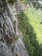 Rock Climbing Photo: View from top of pitch 3