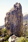 Rock Climbing Photo: See that big crack in the right/center?  Climb it!