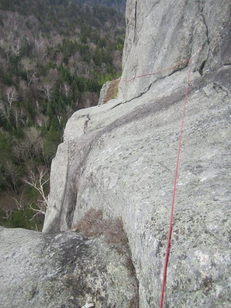 Rock Climbing Photo: Looking back after completing the traverse