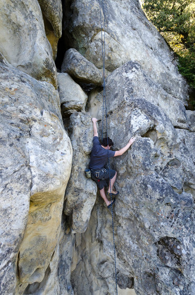 Rock Climbing Photo: Adam on California Ridge.