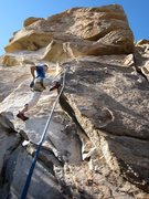 Rock Climbing Photo: Jimbo starting up the route.