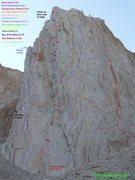 Rock Climbing Photo: Full Hulk Topo. V2.0  Still needs some corrections...