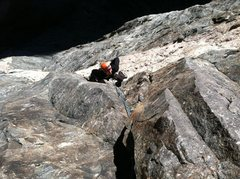 Rock Climbing Photo: Erik Rieger on the 3rd pitch.